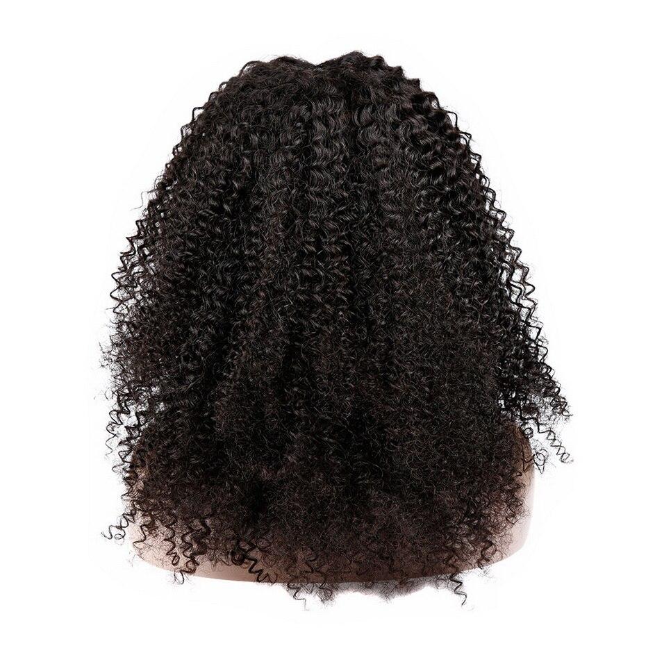 Афро парик из бразильских курчавых, предварительно вырезанные бразильские волосы парики ms lula Реми 150 Плотность 13x4 Синтетические волосы на к... - 6
