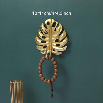 Leaves Shape Iron Hook Nordic Wall Decoration Leaf Key Watch Bags Jewelry Haning Hook Mutifuctional Wall Hanger Rack 16
