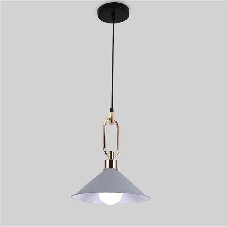 Modern Led Pendant Light Four color pendent lamps E27 bulb led lamps Living room bedroom pendent lamp lustre pendent lighting