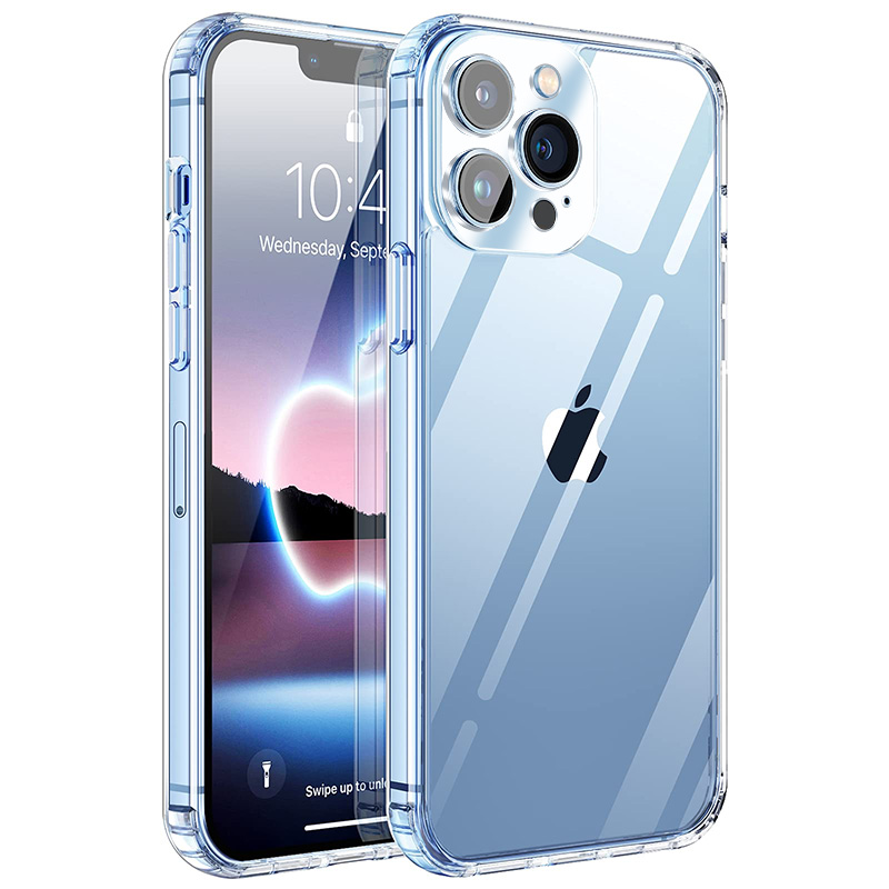 Transparent Phone Case On For iPhone 12 11 13 Pro Max Lens Protection Silicone Case For iPhone 12 13 Mini XS XR Cases Back Cover