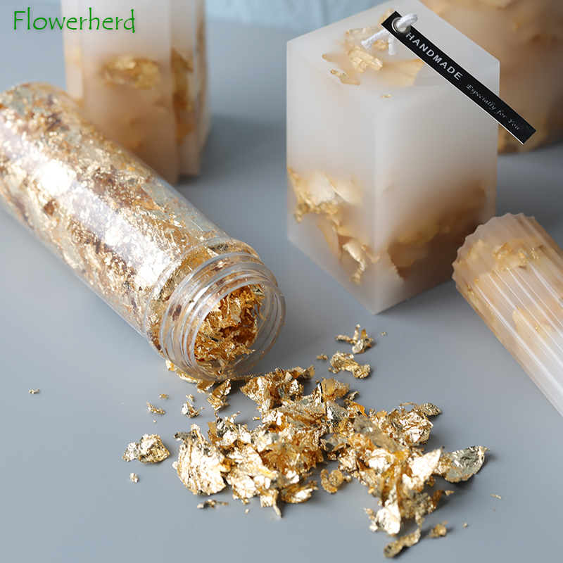 DIY Candle Making Supplies Soap Making Food Grade Gold Foil Silver Foil DIY Handmade Material Soap Candle Decoration Tools 2g