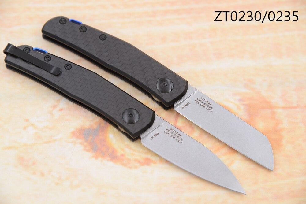 Pocket Camp Hunt EDC Handle Anso Slip 20CV Tool Joint Fibre ZT0230 Folding JUFULE Survival Kitchen 0235 Knife Outdoor Carbon