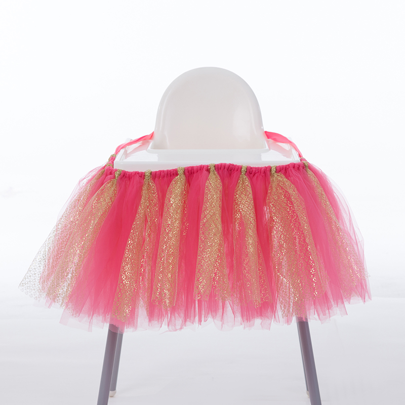 Boys Girls Chair Tutu Tulle Skirts Table Cover Cloth For Home Baby Shower Decorations Table Skirt Party Baby Party Table Cloth