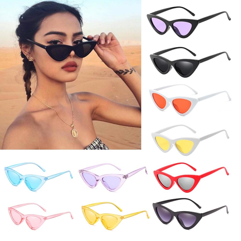 Retro Sunglasses Women Sexy Small Cat Eye Sun Glasses UV400 Protection Eyewear Summer Beach Travel Fashion Eyeglasses Female