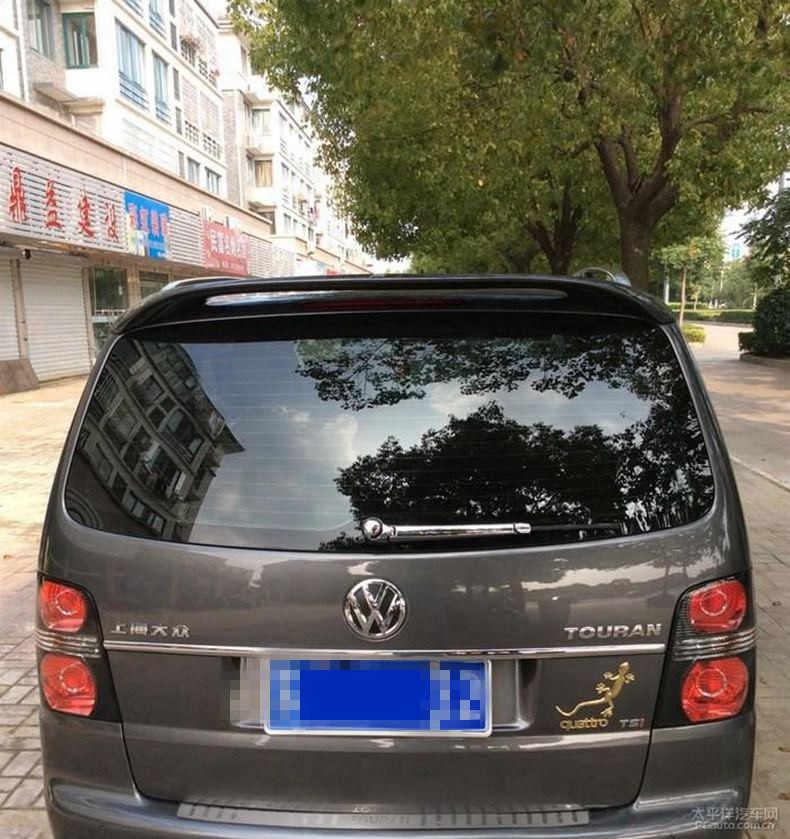 Per Touran Spoiler 2006-2013 Volkswagen Touran Spoiler ABTK ABS Materiale plastico Auto Ala Posteriore Spoiler Posteriore di Colore