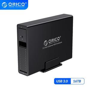 Image 1 - ORICO 95 Serie da 3.5 pollici 1 Bay BOX E ALLOGGIAMENTI PER HDD Alluminio USB3.0 A SATA 16TB HDD Docking Station Con 24W di Alimentazione esterna di Alimentazione