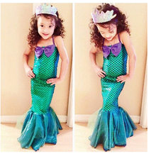 Toddler Fantasia Princess Costume Girls Cosplay Dress Halloween Carnival Fancy Party Uniform Little Mermaid Costume(China)