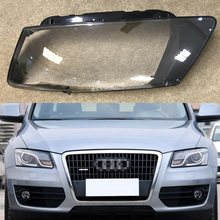 Car Headlight Lens For Audi Q5 2010 2011 2012  Car Headlamp Cover Replacement  Front Auto Shell Cover