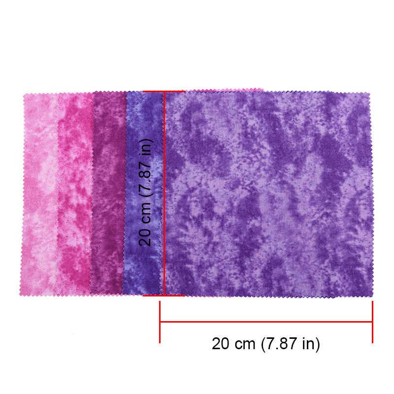 Gravata-tintura impressão retalhos tecido de algodão tecido de costura arco-íris crianças diy acessórios artesanais 20*20 cm/pces tj1011