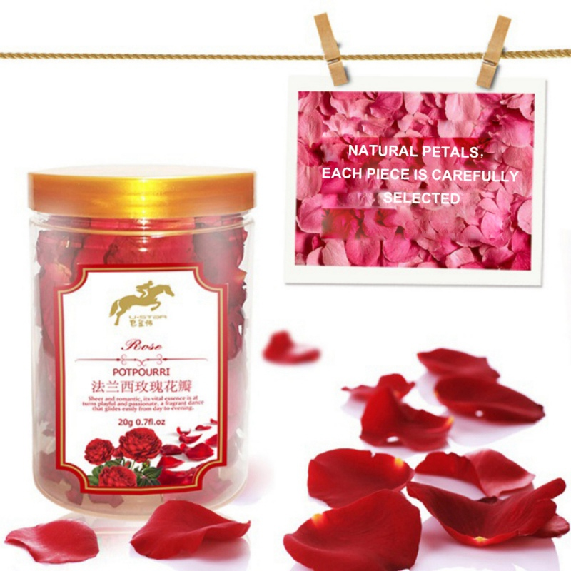20g Real Rose Flower Petals For Bath Foot Bath New Arrival Red Petal Roses Dried Rose Petals Bath & Shower Hot