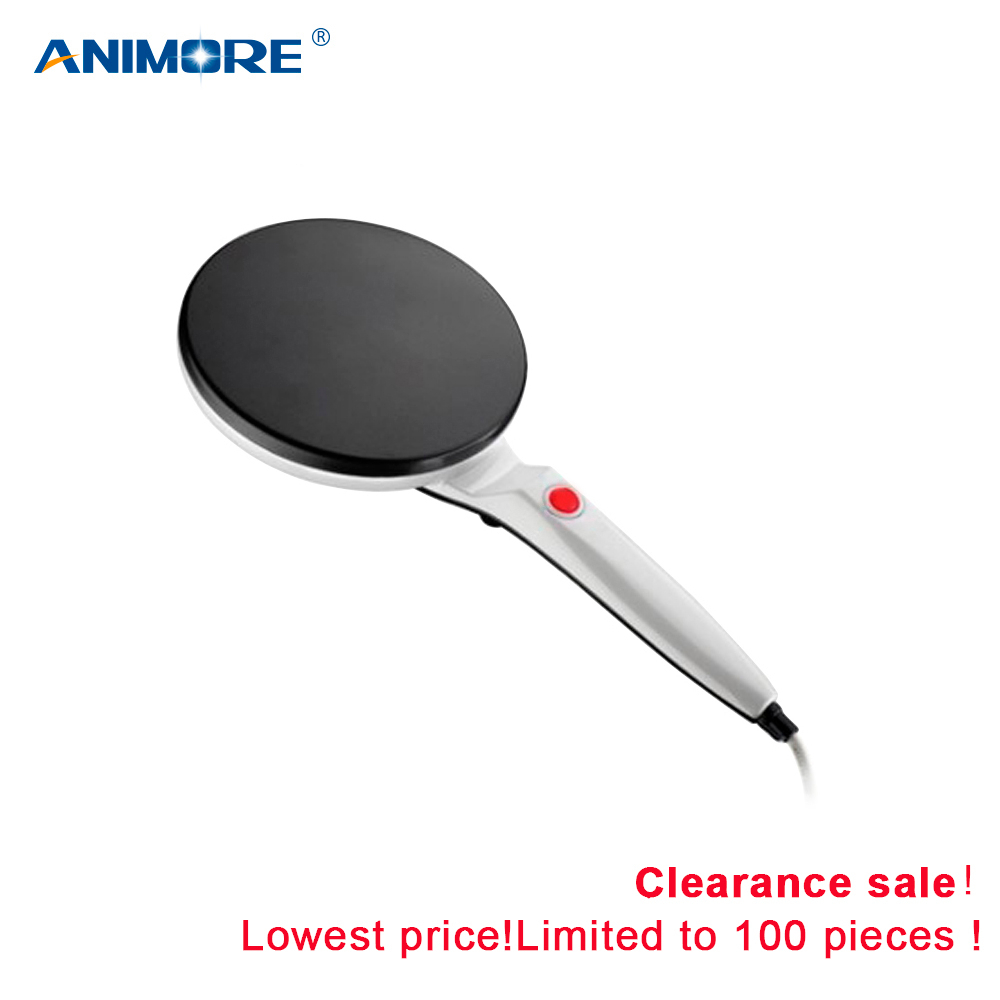 ANIMORE Electric Cooking Pancake Machine Crepe Maker Pizza Kitchen Non-stick Griddle Baking Pan Cake Machine Tools (Without Box)