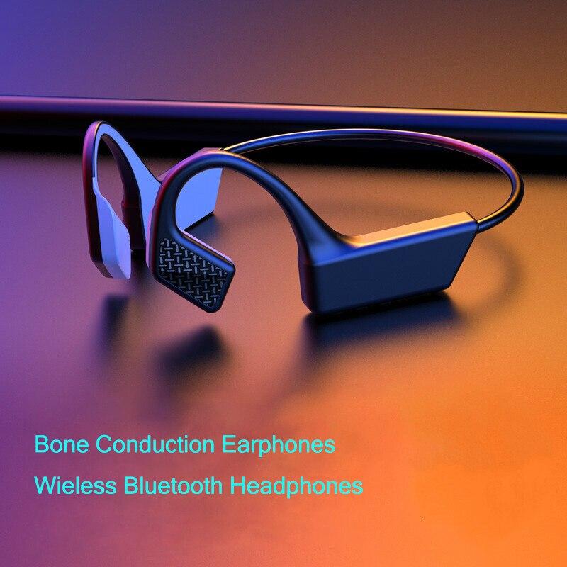 K08 костной проводимости беспроводные наушники Bluetooth стерео наушники громкой связи спорт бег наушники с микрофоном