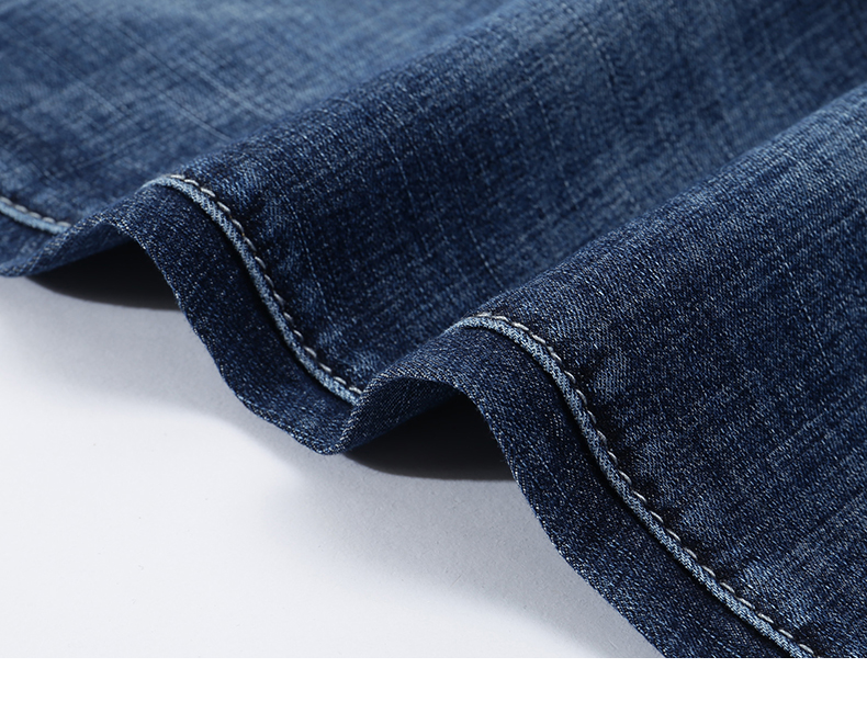 KSTUN Men's Jeans 2020 Summer Denim Pants Slim Straight Elastic Soft Blue Regular Fit Leisure Long Trousers Famous Brand Jean Hombre 17