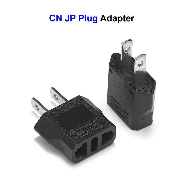 Socket Plug Adapter Europe EU Euro TO US Travel Charger AC Power Converter 3PCS