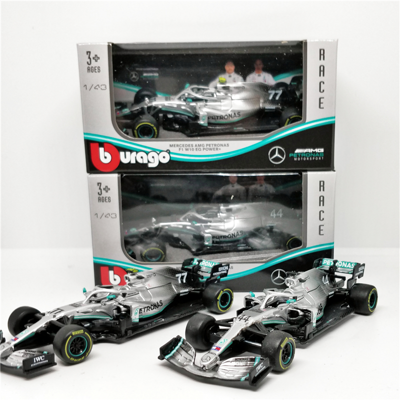BBurago 1:43 F1 2019 Benz AMG Petronas W10 EQ Power Formula One Racing Diecast Car