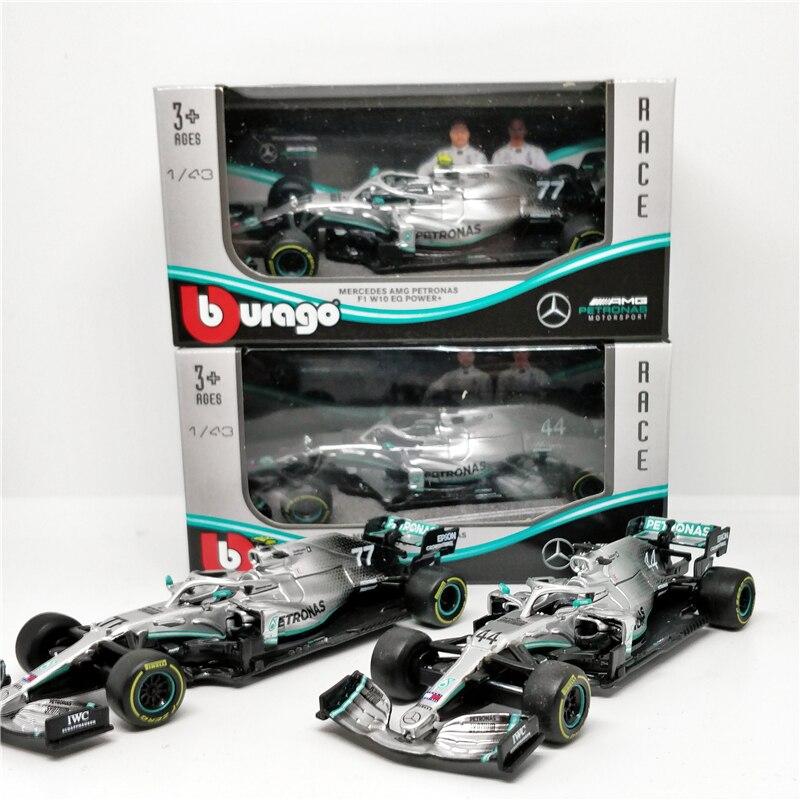 BBurago 1:43 F1 2019 Benz AMG Petronas W10 EQ Power Formula One Racing Diecast Car