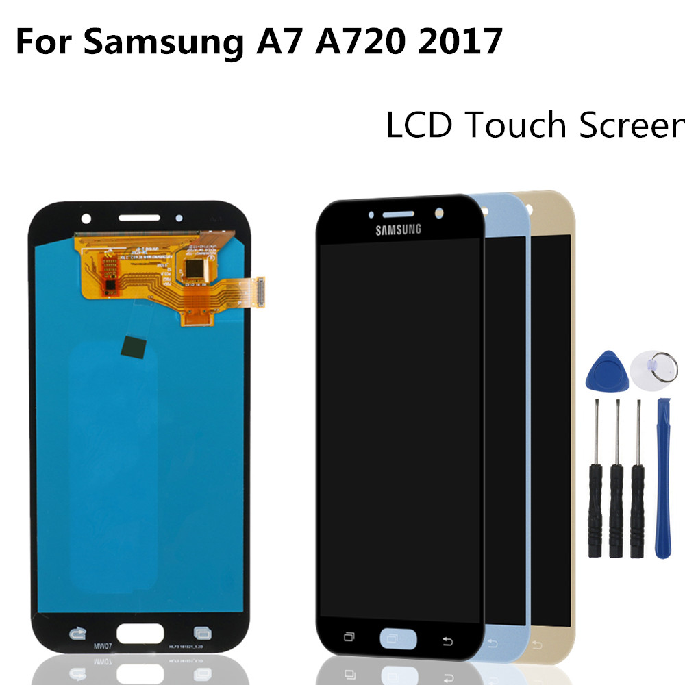 "5.7"" For <font><b>Samsung</b></font> Galaxy A7 2017 <font><b>A720</b></font> A720F A720M A720S LCDs Display Touch Screen Digitizer Assembly <font><b>LCD</b></font> Replacement Parts image"