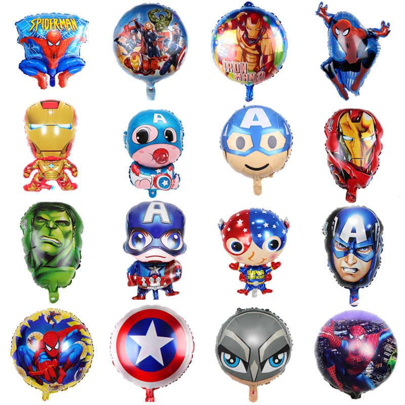 Spiderman Avengers Marvel diapositives Ballon Garçon Enfants Anniversaire Chiffre 1-9 Bleu