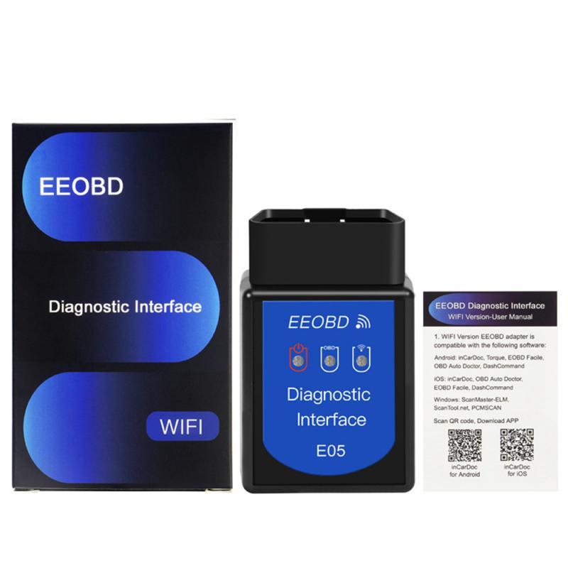 ELM327 Bluetooth E05 WIFI OBD2 herramienta de diagnóstico del coche ELM 327 Bluetooth 4,0 para Windows 7 / XP sistema herramienta de reparación de automóviles, escáner automático Nuevo escáner Mini ELM327 Bluetooth V1.5 OBD2, escáner de diagnóstico de coche para Android ELM 327 V 1,5 OBDII OBD 2, herramienta de diagnóstico automático
