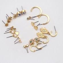 Small Earring Set 3 Pairs of Stud Women's Heart Statement Ear Star Hoop The Devil's Eye Diamonds Crystal Ball Simple 202128