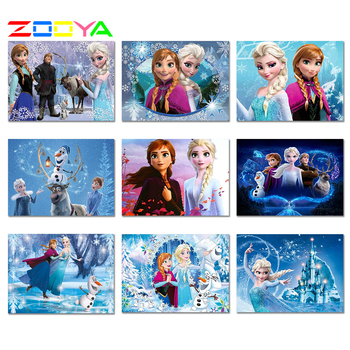 5D Diy Full Square / Round Diamond Painting Frozen 3D Diy Embroidery Cross Stitch Rhinestone Mosaic Home Decoration Gifts 4Bxqy3