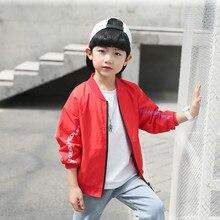 Baseball Boys Jacket 2019 Spring Autumn Windbreaker Jacket for Boy Outerwear Child Coat Kids School Clothes Boys Tops Sportswear