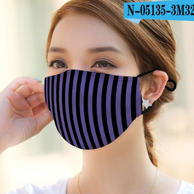 1pc Can Plug-in filter Dust Mouth Mask  Washable Reusable  Various patterns Unisex Cotton Mask for Adult Kids 3