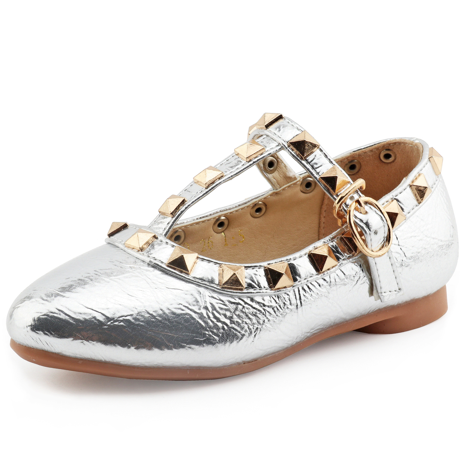 CCTWINS KIDS spring girls brand for baby stud shoes children nude sandal toddler summer shoe black white flats party shoe G358 5