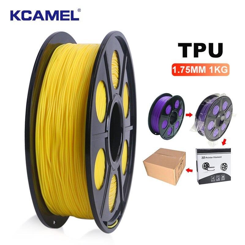Нить для 3D-принтера KCAMEL ТПУ, 1,75 мм, 1 кг, красная, черная, синяя нить для 3D-принтера