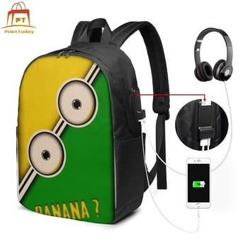 цена на Minions Backpack Minions Backpacks Multi Pocket Schoolbag Bag Trendy Print High quality Teenage Bags