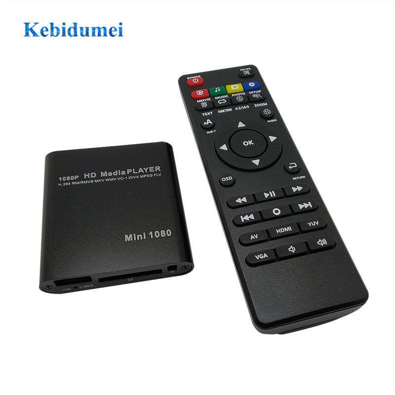 HDMI Wireless Remote Control Media Player Full HD 1080p USB TV AVI RM HDD MKV SD