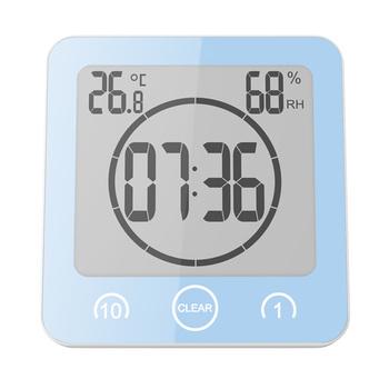 LCD łazienka zegar ścienny zegary prysznicowe zegar cyfrowy wodoodporny rozpryski wody temperatura wilgotność kuchnia ubikacja czas tanie i dobre opinie Europa Temperature Humidity Clock SQUARE Other Pojedyncze twarzy Zegary ścienne Scenic Łazienka Oddziela DIGITAL Temperature Humidity Meter