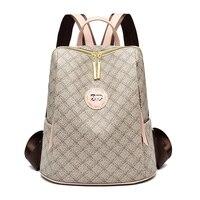 2019 Luxury Backpacks Women Backpack Leather Female Shoulder Bag Waterproof School Bags For Girls Sac Travel Rucksack Mochila