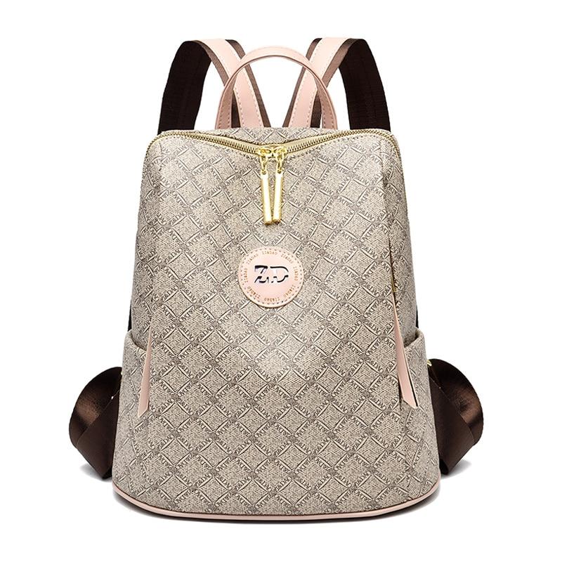 2020 Luxury Backpacks Women Backpack Leather Female Shoulder Bag Waterproof School Bags For Girls Sac Travel Rucksack Mochila|Backpacks| - AliExpress