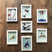 Handmade Marine Life Craft of Paper Picture Frame Wall Pendant Sea Animals Home&Office Decor DIY Crafts For Kids Gift&Christmas