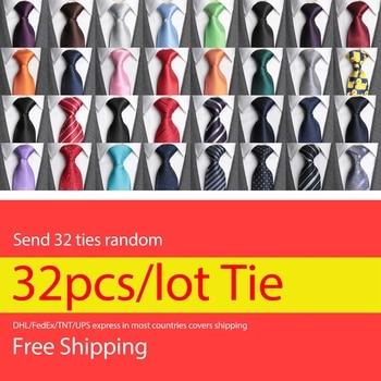 32pcs/lot Ties for Men DHL/FedEx/TNT/UPS Free Shipping Fashion Jacquard Necktie Man Wedding Formal Dress Gifts Classic Mens Tie fuel shutdown solenoid or diesel engine 6112 replace of 232c 1115030 24v 3pcs lot free shipping fedex ups tnt dhl