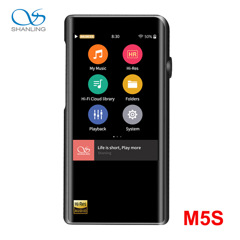 Shanling M5s Bluetooth Portable Hi-Res Music Player MP3 2* AK4493EQ 2.5mm Balanced Output Support LDAC/Qualcomm AptX/AAC WiFi