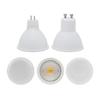 цена на led spotlight bulb GU10 MR16 6W cob lamp 12v 110v 220v 230v 240v cool white 6500k nature white 4000k warm white 3000k spot light