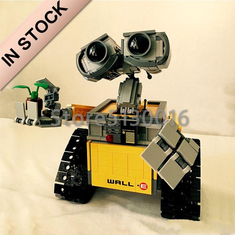 In Stock Star Series Wars 16003 The Robot WALL E 21303 687Pcs Ideas Model Building Kits Blocks Bricks Education Toys Christmas