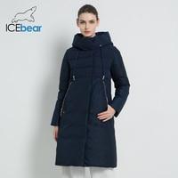 ICEbear 2019 New Winter Women Jacket High Quality Long Woman coat Hooded Female Parkas Stylish Women's Brand Clothing GWD18310I