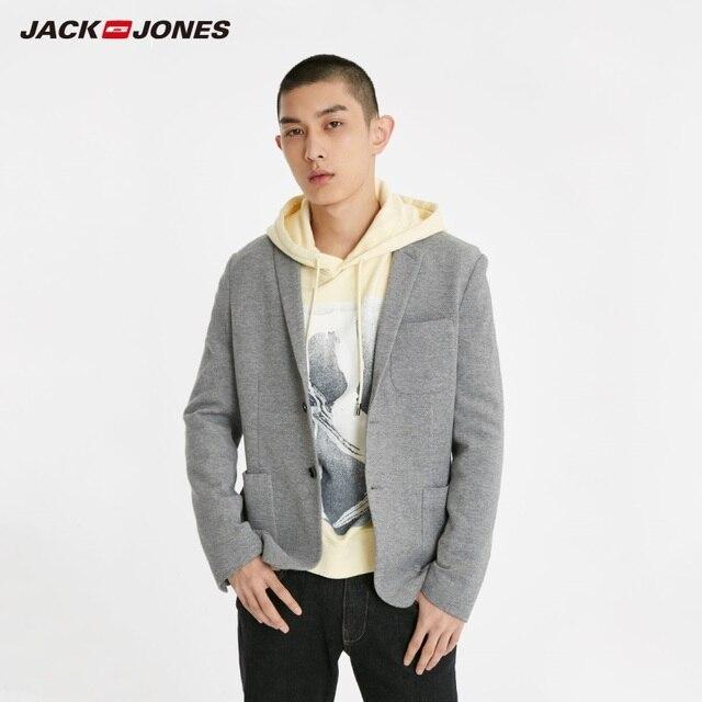 JackJones Mens Slim Fit Two button 100% cotton Blazer Basic Style Suit Jacket Menswear 219108509