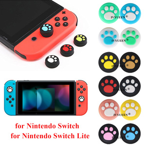 Image 1 - IVYUEEN 4 pcs Silicone Thumb Grips Cover for Nintendo Switch NS Lite Joy Con Analog Stick Caps Skin for JoyCon Joystick Grip