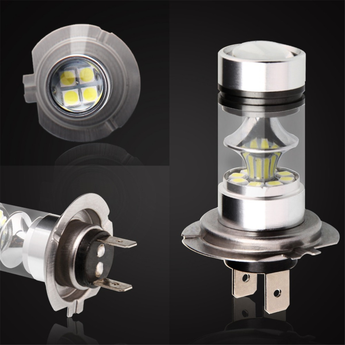 1PCS Car Led H4 H7 H8 H11 LED 9005/HB3 9006/HB4 1156 BA15S 1157 Fog Lights White 100W Bulbs 20 SMD Lamp Driving Turning Ampoule