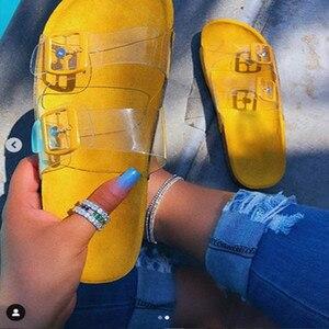 Image 5 - 2020 גביש חיצוני חוף סנדלי קיץ כפכפים נשים בלינג גבירותיי פתוח הבוהן נוחות להחליק אישה נעלי צבעים בוהקים קוברה