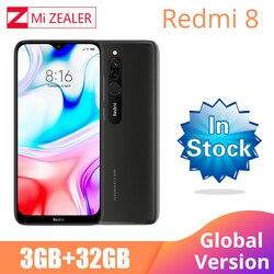 Nova versão global xiao redmi 8 smartphone 3 gb ram 32 gb rom snapdragon 439 10 w carregamento rápido 5000 mah bateria celular