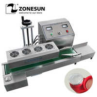 ZONESUN ZS-FK-6000A Desktop stainless steel Continuous Induction Sealer,magnetic induction sealing machine,suit 15-80mm diameter