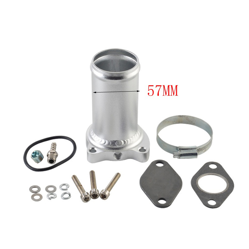 57MM EGR 밸브 교체 파이프 슈트 아우디 시트 VW 1.9 TDI 130/160 BHP 2.25 인치 디젤 egr 삭제 키트