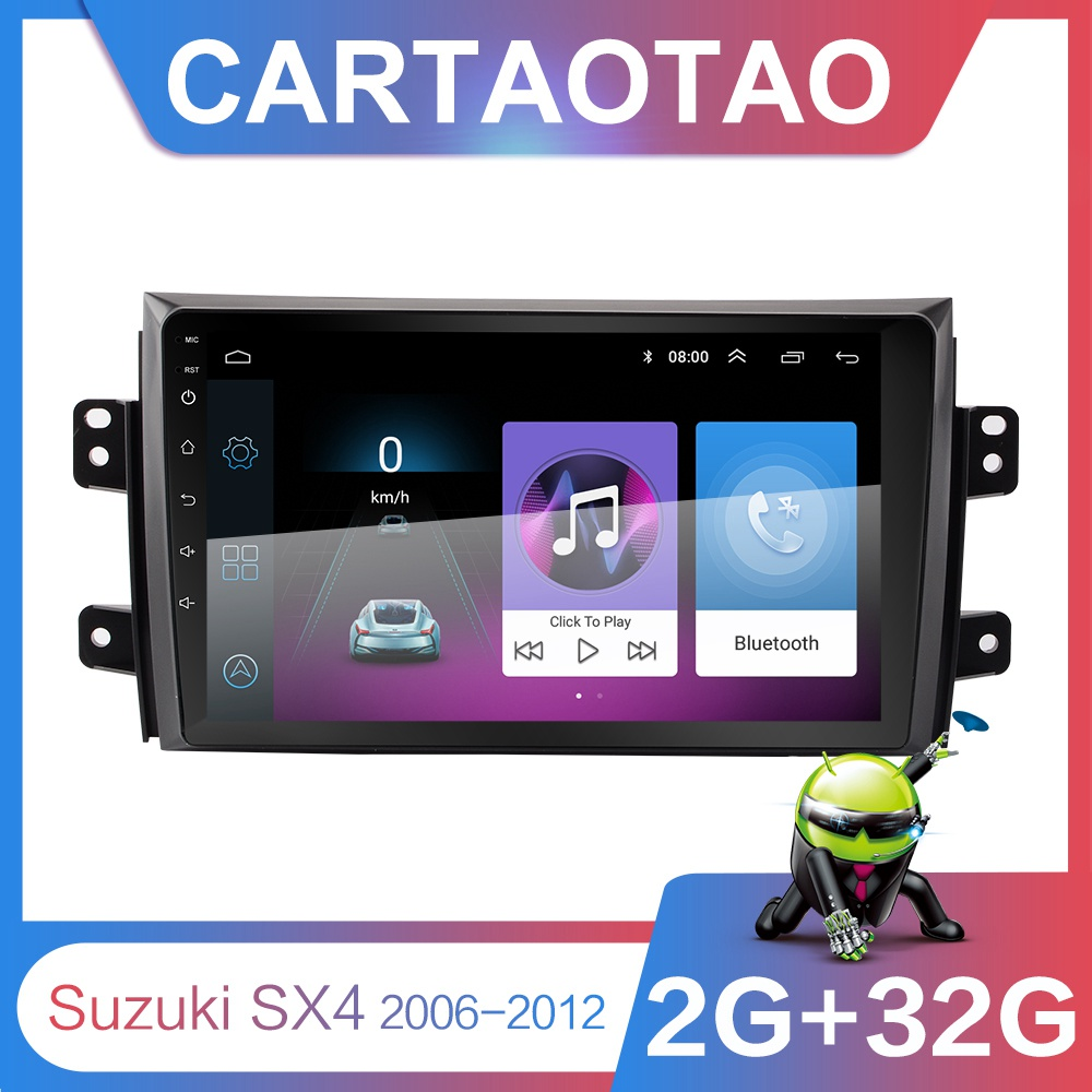 2G 32G 9 2DIN Android 8 1 GO Car DVD Multimedia Player for Suzuki SX4 2006