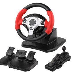 Pedal controlador de volante de carreras de 900 grados conducción como Real ordenador aprendizaje coche simulador cinturón acelerador embrague para PC