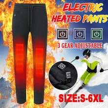 Умные уличные теплые штаны с электрическим подогревом для мужчин и женщин, с USB подогревом, базовый слой, эластичные брюки, утепленное нижнее белье с подогревом